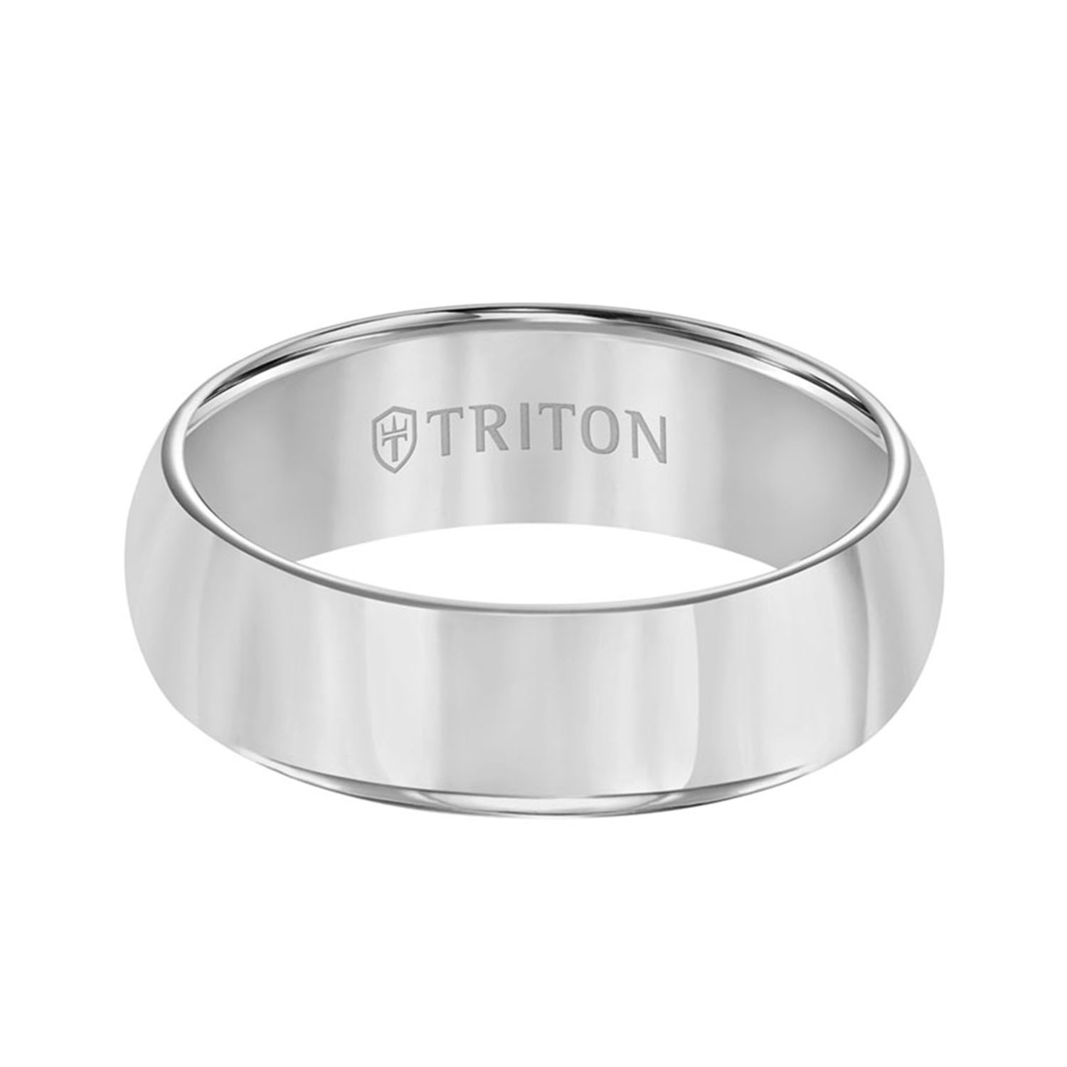 Triton 7MM Tungsten Band with Bright Polish — Lee Michaels ...