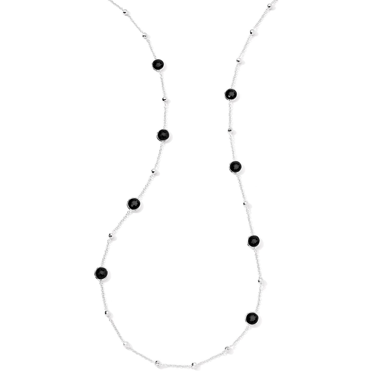 onyx station necklace